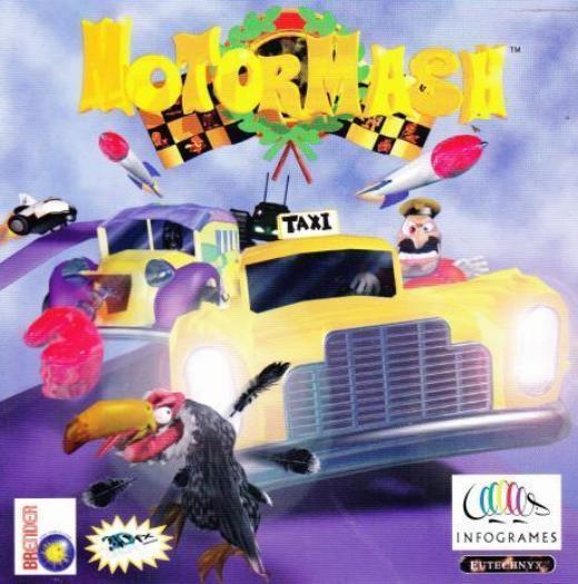 Motor Mash PC CD race cars cartoon racer arcade combat racing game! MotorMash 1