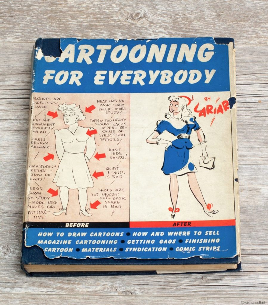 Cartooning for Everybody 1941 Hardcover with Dust Jacket Lawrence Lariar 1