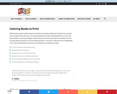 Coloring Books for Kids- Jumbo workbooks 1