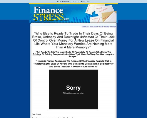 Unauthorized Affiliate - error page 1