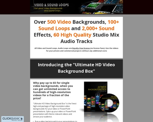 Ultimate Hd Video Background Box 1