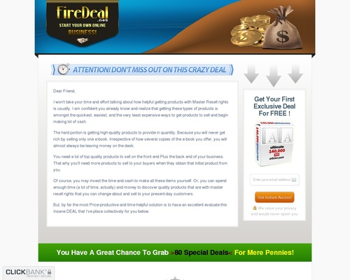 Crazy Firedeal - Start Your Own Online Business! 1