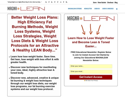 MAGNA Lean | Fat Loss Weight Loss Systems » MAGNALEAN EXTREME Ultra Fast Fat Burning System 1