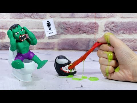 Superheroes Hulk vs Venom Let There Be Carnage - DRAWING CARTOONS 2 Stop Motion Cooking 1