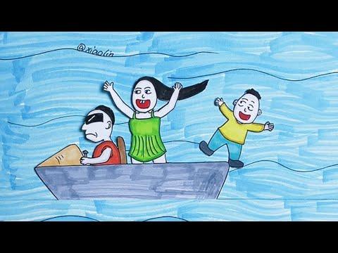 Lucky boy, beautiful mermaid #shorts#drawing#cartoon#story#xiaolindrawing#animation#art#top#artist 1