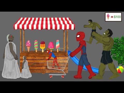 Granny vs Spiderman, Hulk Funny Animations Part 2 - Drawing Cartoon 2 1