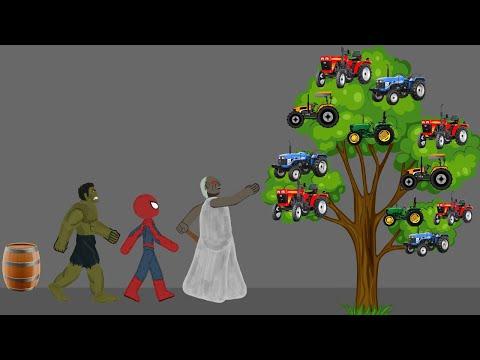 Granny vs Spiderman, Hulk Tree Episode Funny Animations - Drawing Cartoon 2 1