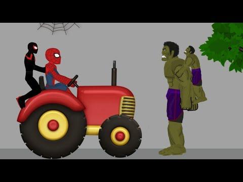 Hulk vs Spiderman Miles Morales - Drawing Cartoons 2 Animation 1