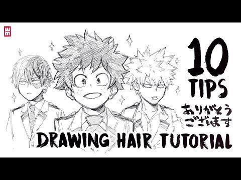 How to Draw Hair | ANY HAIRSTYLES Tutorial with 10 Art Tips 1