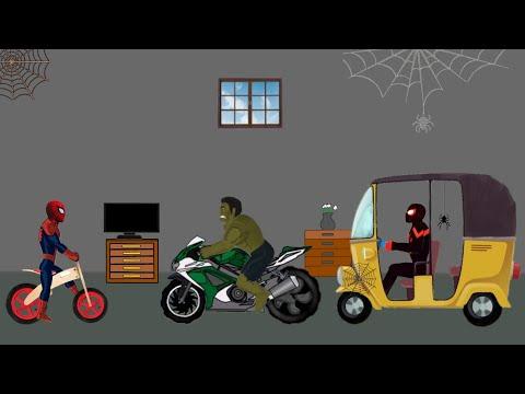 Spider man Cartoon vs Hulk Funny Animation - Drawing Cartoon 2 1