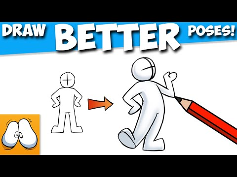 How To Draw BETTER Cartoon Poses! (SO EASY!) 1