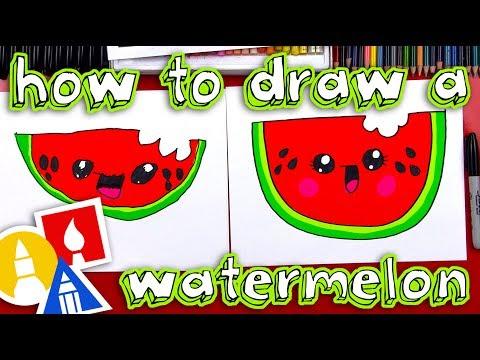 How To Draw A Cartoon Watermelon 1