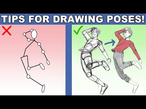 Tips for Drawing Poses | My Pose Drawing Process 1