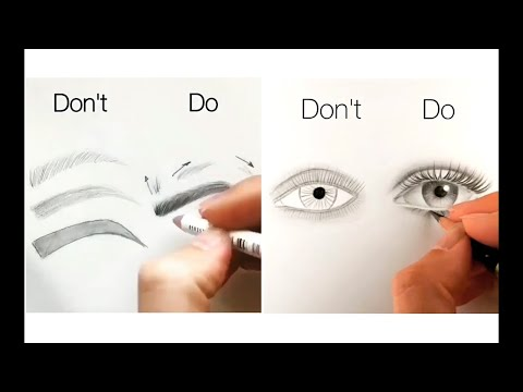 10 Easy Tips for Drawing Face, Eyes, Nose and Lips 1