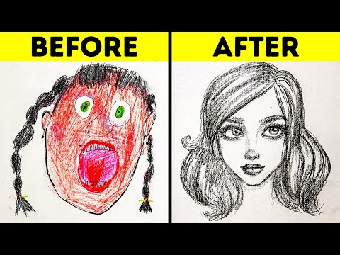 25 EASY DRAWING TRICKS FOR BEGINNERS    SIMPLE DRAWING AND PAINTING TUTORIALS AND TIPS 1