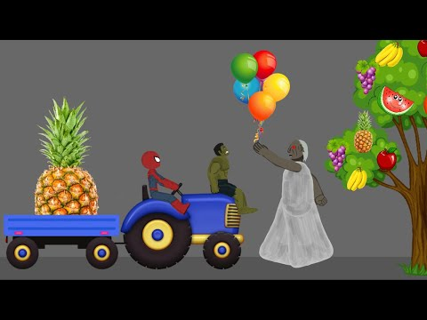 Granny vs Spiderman, Hulk Funny Animations Part 4 - Drawing Cartoon 2 1