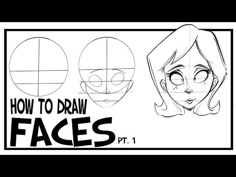 How To Draw Faces- Front View: CARTOONING 101 #1 1