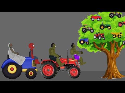 Granny vs Spiderman, Hulk Tractor Tree Funny Animations Part 3 - Drawing Cartoon 2 1