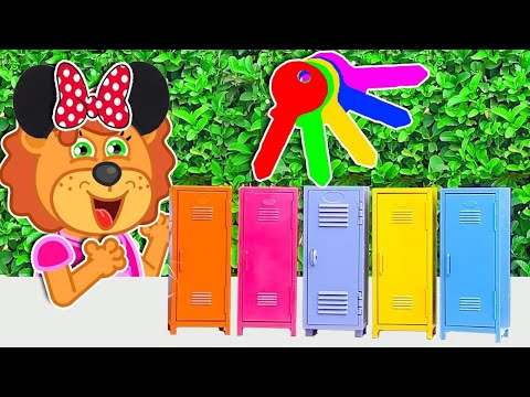 Lions solve the mystery challenge of 5 keys | Lion Family | Cartoon for Kids 1