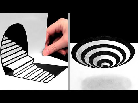 27 AMAZING DRAWING TIPS || ILLUSIONS, 3D DRAWINGS AND ONE-STROKE PAINTINGS 1