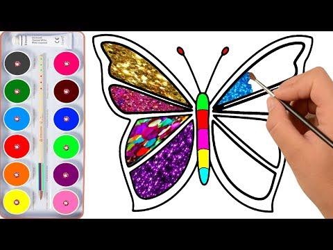 Drawing for Kids | Butterfly, And Many | Picture Coloring Pages 1