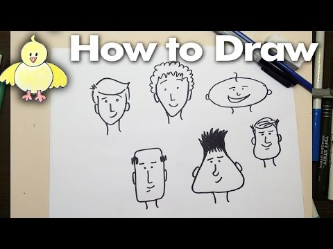 Drawing: How To Draw Easy Cartoon Faces Step by Step 1