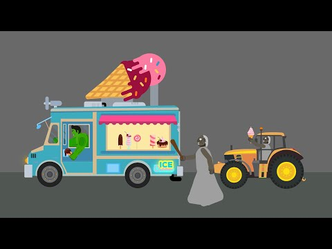 Granny vs Spider-man Ice-cream Tree Sad Story - Drawing cartoon 2 1