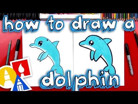 How To Draw A Cartoon Dolphin 1