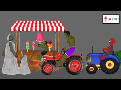 Granny vs Spiderman, Hulk Funny Animations Part 3 - Drawing Cartoon 2 1