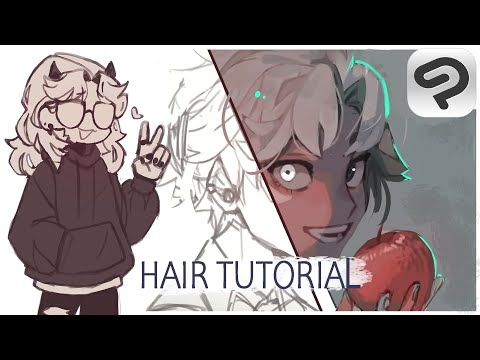How I draw hair// Tips and Tricks in Clip Studio Paint 1