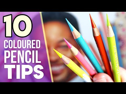 10 TIPS TO IMPROVE AT DRAWING | Coloured Pencil Tips 1