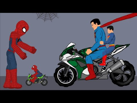 Spider man vs Superman Funny Animation - Drawing Cartoons 2 1