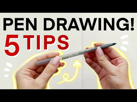 5 Tips for Ballpoint Pen Drawing! Filling a Sketchbook Spread with Faces 1