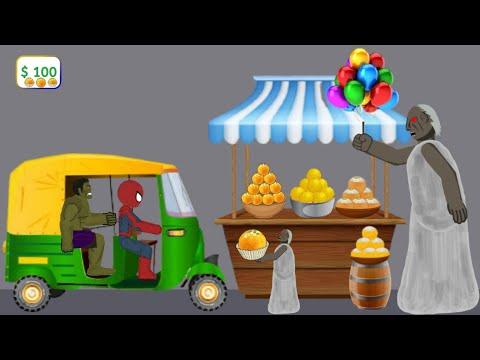 Granny vs Spiderman, Hulk Besan Ladoo Funny Animation - Drawing Cartoons 2 1