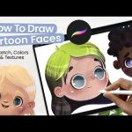 How To Draw Cartoon Faces + Adding Texture To Illustrations • Cute Art • Procreate Tutorial 3