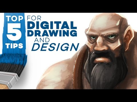 TOP 5 TIPS for Digital Drawing and Design! 1