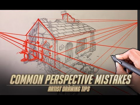 Common Perspective Mistakes - Artist Drawing tips 1