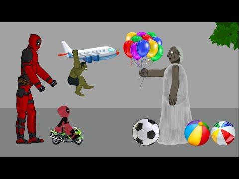 Granny vs Deadpool vs Hulk Tree Funny Animation - Drawing Cartoons 2 1