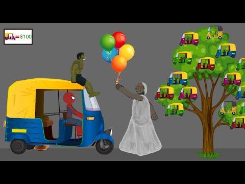 Granny vs Spiderman, Hulk Funny Animation Part 12 - Drawing Cartoon 2 1