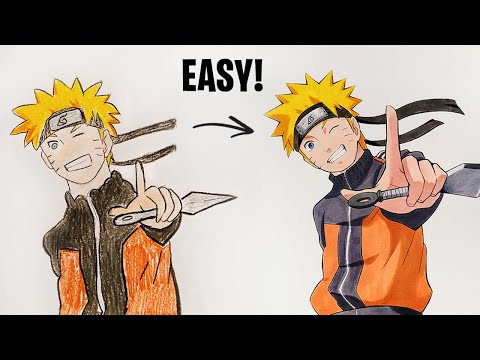 8 AWESOME TIPS & TRICKS TO IMPROVE YOUR DRAWING - Naruto 1
