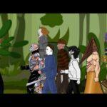 Nemesis Thanos vs Pyramid Head, Jason, Michael, Pennywise, Freddy Drawing Cartoon 2 5