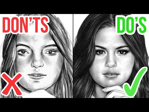 DO'S & DON'TS: How To Draw a Face   Realistic Drawing Tutorial Step by Step 1
