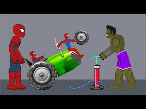 Spider-man vs Hulk vs granny #3   Funny Animation - Drawing Cartoons 2 1