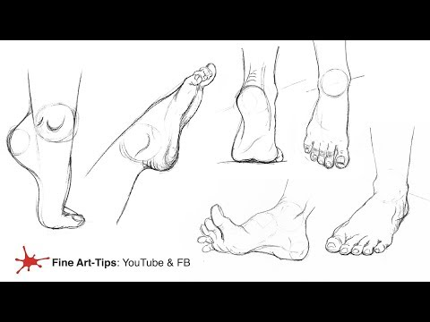 HOW TO DRAW FEET FROM ANY ANGLE, EASILY! 1