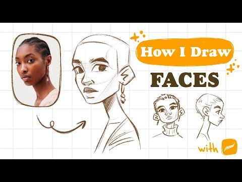 How I DRAW FACES step by step   Mistakes & tips   Procreate sketch   👽 1