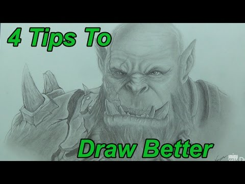 Drawing Tips - 4 Tips To Help You Draw Better 1