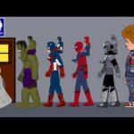 Granny vs Spiderman, Hulk Toilet Funny Animation - Drawing Cartoons 2 5