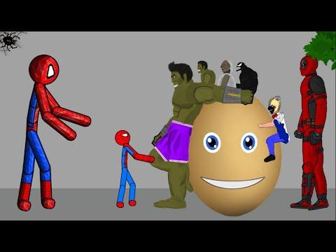 SPIDER-MAN vs HULK vs GRANNY #2 | Funny Animation - Drawing Cartoons 2 1