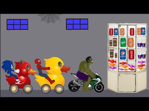 Spiderman vs Hulk, Sonic Funny Animation - Drawing Cartoons 2 1