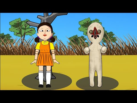 If Scp 173, Scp 096 playing Squid Game Animation. Drawing Cartoon 2 1
